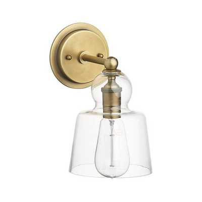 Lander Brass Sconce - Crate and Barrel