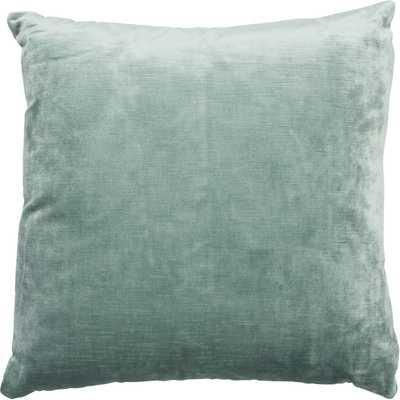 Brussels Throw Pillow, Aqua- Feather/down Insert - High Fashion Home