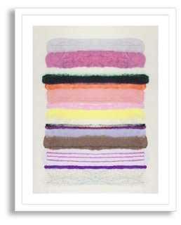 Kristi Kohut, Stripes 25- 17x22- Framed - One Kings Lane