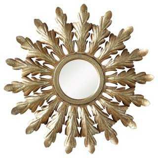 Caesar Starburst Accent Mirror, Gold - One Kings Lane