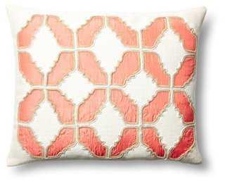Baroque 16x20 Cotton Pillow, Coral - One Kings Lane