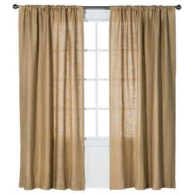 """Burlap Curtain Panel - Natural - 54""""x84"""" - Target"""