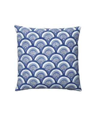 """Kyoto Indigo Pillow Cover - 20""""SQ - Without insert - Serena and Lily"""