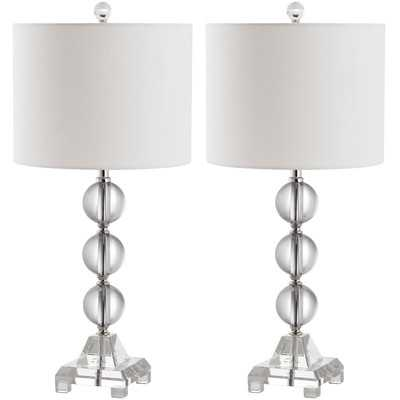 "Andres 24"" H Table Lamp with Drum Shade - Wayfair"