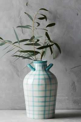 Milos Vase - Aqua, Small - Anthropologie