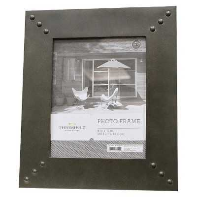 Flat Frame with Printed Texture and Metal Rivets 8x10 - Target
