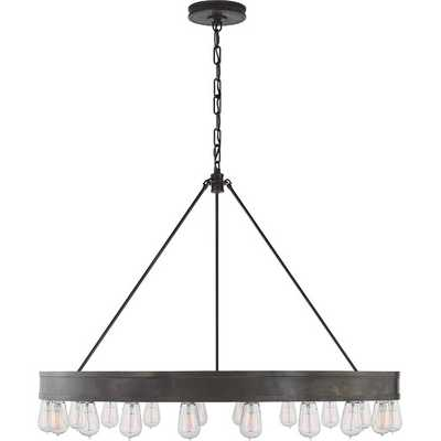 Roark Modular 20 Light Ring Chandelier - Aged Iron - AllModern