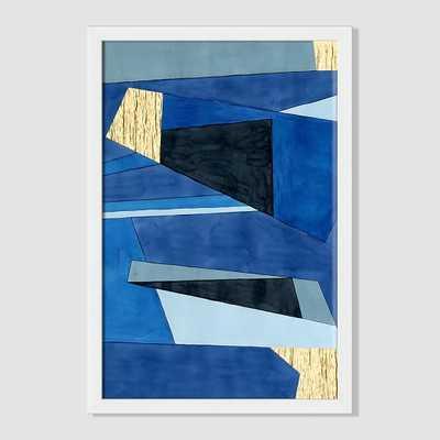 Roar + Rabbit Print - Layered Fragments - 29x40 - Framed - West Elm