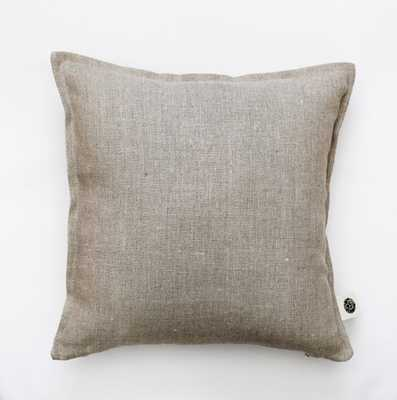 "Linen pillow cover, Natural - 18""sq. - Insert sold separately - Etsy"