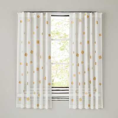 "84"" Gold Confetti Curtain - Land of Nod"