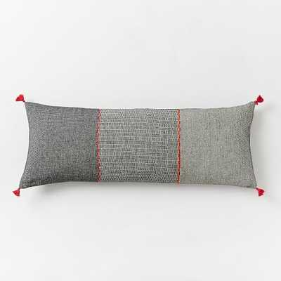 Trio Grid Pillow Cover - West Elm