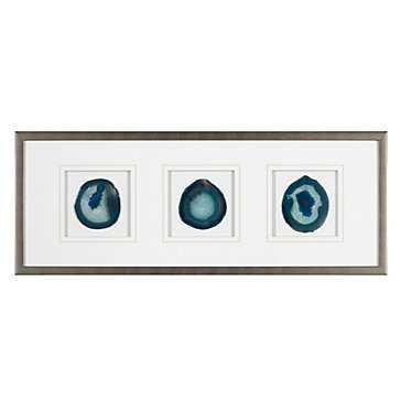 Agate Trio - Peacock - 34.25''W x 13.25''H - framed - Z Gallerie