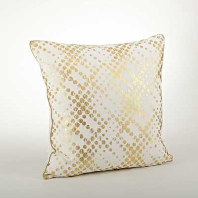 Metallic Foil Print Pillow - 20-inch - Overstock