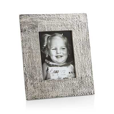 Silver Bark 5x7 Picture Frame - Crate and Barrel