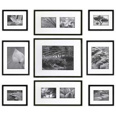 9 Piece Wood Matted Picture Frame Set - Wayfair