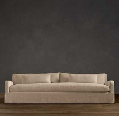 BELGIAN SLOPE ARM SLIPCOVERED SOFA - RH