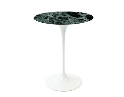 saarinen side table verdi alpi green marble - hivemodern.com