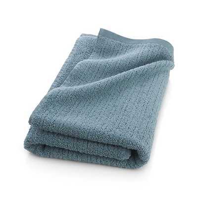 Ribbed Bath Towel - Teal - Crate and Barrel