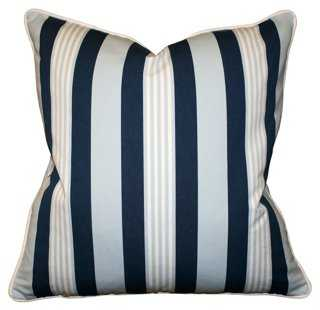 Mazarin 22x22 Cotton Pillow, Multi-Feather/Down Insert - One Kings Lane