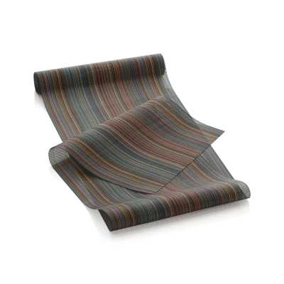 Chilewich ® Chroma Dark Stripe Vinyl Table Runner - Crate and Barrel