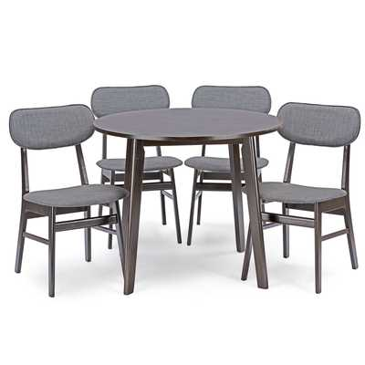 Baxton Studio Debbie 5 Piece Dining Set - Wayfair