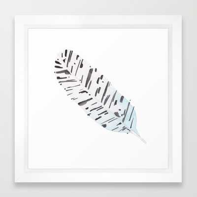 FRAMED ART PRINT, Feather I - Society6
