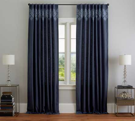 """LUCIA EMBROIDERED DRAPE- 50"""" wide x 96"""" long - Pottery Barn"""