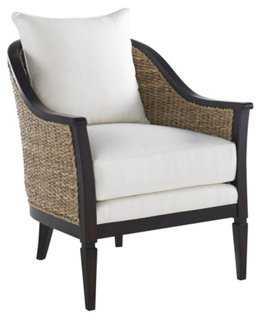 Lanai Rattan Chair, White - One Kings Lane