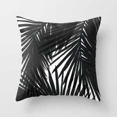 "Palms Black throw pillow-16"" x 16""- Insert not included - Society6"