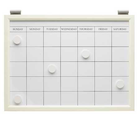 Magnetic whiteboard calendar - Pottery Barn