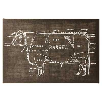 Beef Chalk Graphic Art on Wrapped Canvasby Mercury Row - Wayfair
