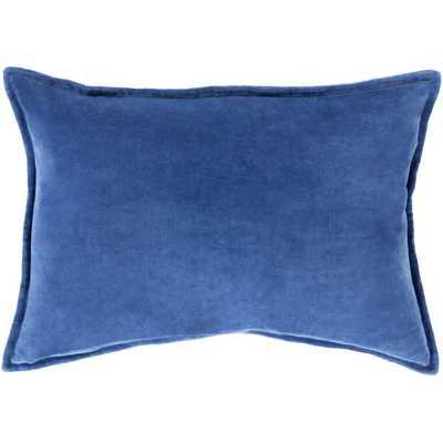 """Lumbar Pillow - 13"""" H x 19"""" W - cobalt - insert included - Wayfair"""