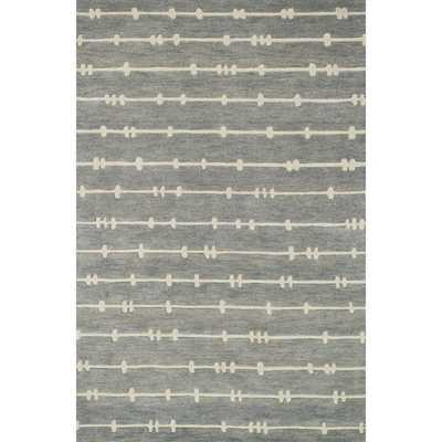 Hand-tufted Echo Grey/ Ivory Rug - Overstock