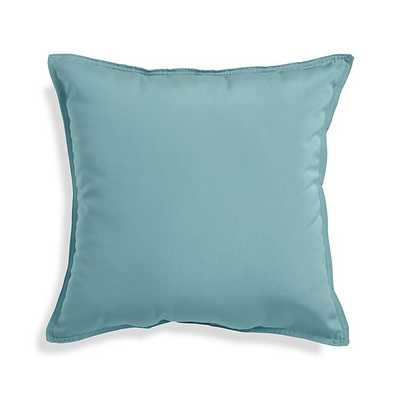 "Sunbrella ® Mineral Blue 20"" Sq. Outdoor Pillow - Polyester fiberfill - Crate and Barrel"