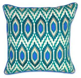 Bold Linen Pillow - One Kings Lane