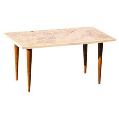 Mid-Century Danish Modern Marble Side Table - Chairish