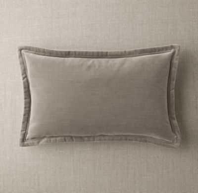 Custom vintage velvet flanged lumbar pullow cover - RH