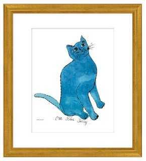 Andy Warhol, Warhol Cat, Blue - One Kings Lane