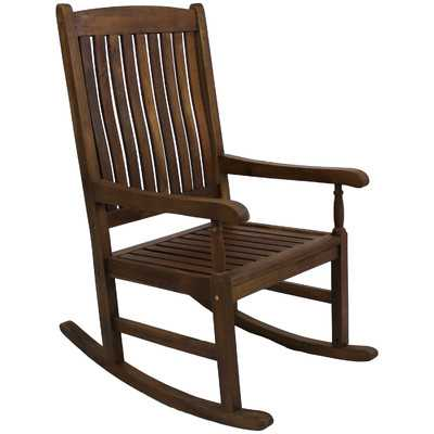 Gatefield Traditional Wood Rocking Chair - Stain - Wayfair