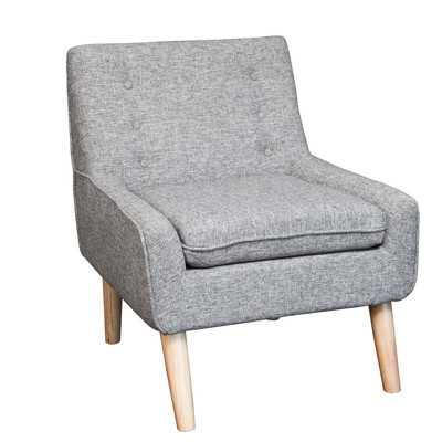 Reese Tufted Fabric Retro Side Chair - Grey - Wayfair