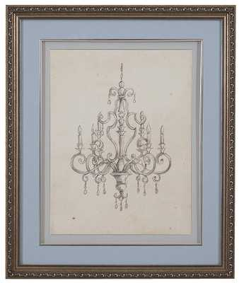 CLASSICAL CHANDELIER III FRAMED WALL ART - Home Decorators