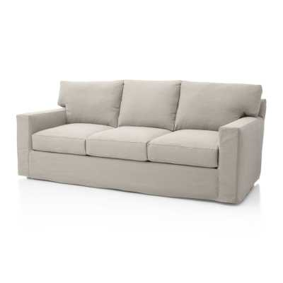 Axis II Slipcovered 3-Seat Sofa - Dove - Crate and Barrel