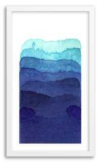 "Kenji Hoshi, Shades of Blue - 14"" x 24""- Framed - One Kings Lane"