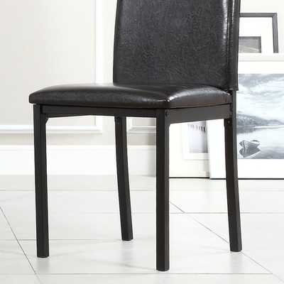 TRIBECCA HOME Darcy Espresso Metal Upholstered Dining Chair (Set of 4) - Overstock