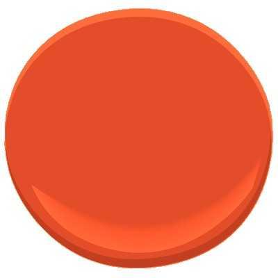 Benjamin Moore ben - Outrageous Orange - Benjamin Moore