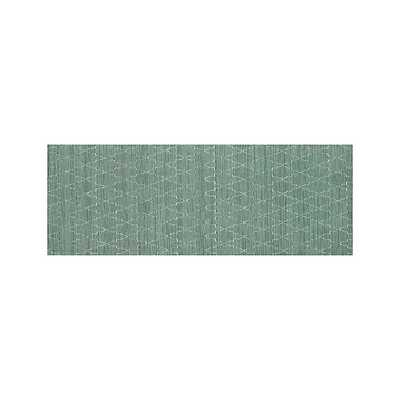 Tochi Robin Blue 2.5'x7' Rug Runner - Crate and Barrel