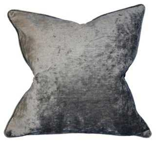 Park Ave 22x22 Pillow, Silver - Polyester fill - One Kings Lane