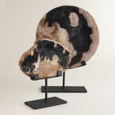 Petrified Wood on Stand - small - World Market/Cost Plus