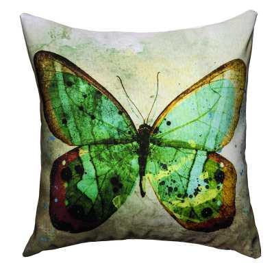 """Maxwell Dickson Toss Pillow BUTTERFLY - 17"""" x 17"""" - polyester insert - Apt2B"""