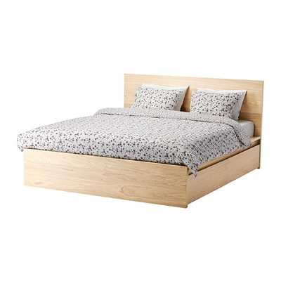 MALM High bed frame/4 storage boxes - Full, Luroy - Ikea